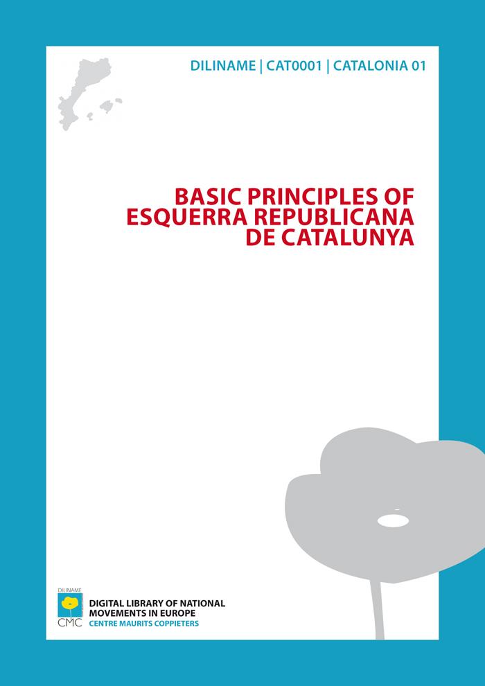 Basic Principles of Esquerra Republicana de Catalunya (1931)