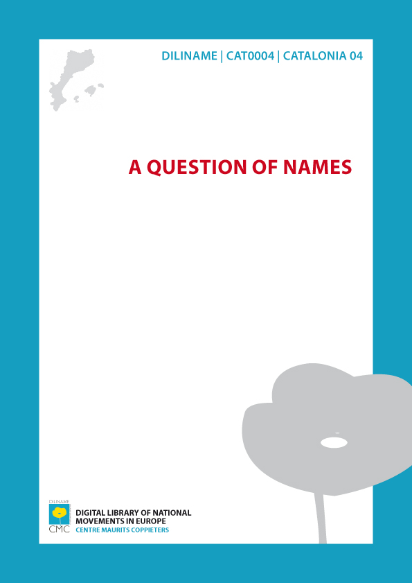 A Question of Names (1962)