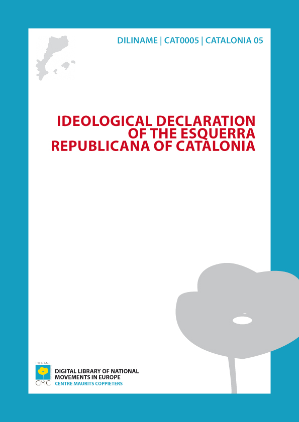 Ideological declaration of the Esquerra Republicana of Catalonia (1993)