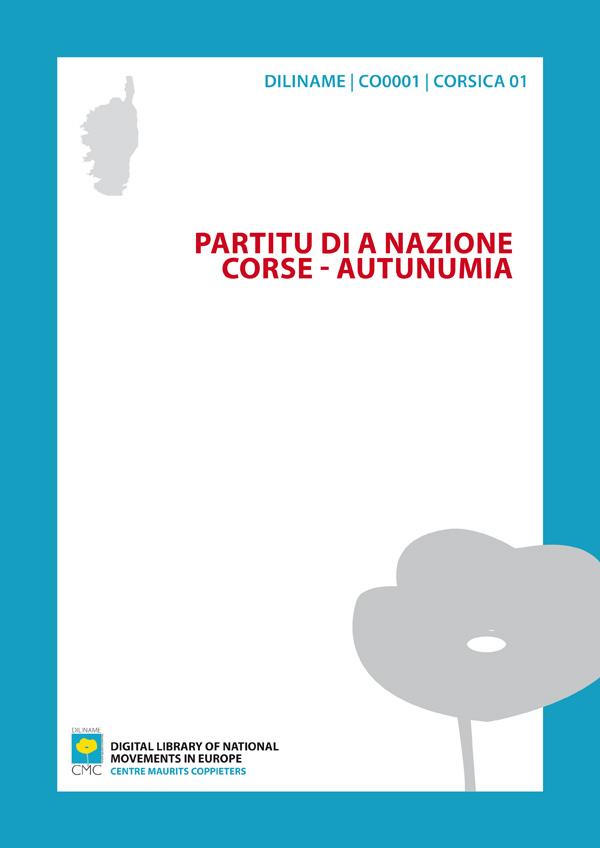 Partitu di a Nazione Corse - Autunumia (1982)