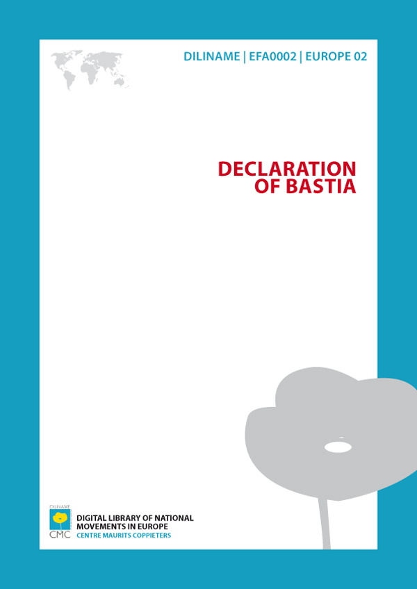 Declaration of Bastia (1979)