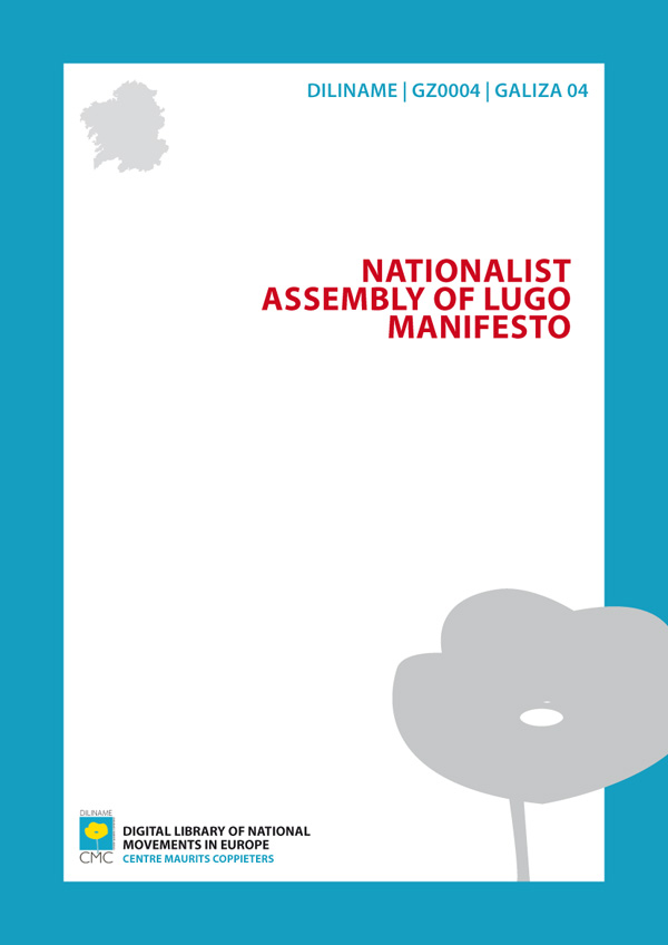 Nacionalist Assembly of Lugo Manifesto (1918)