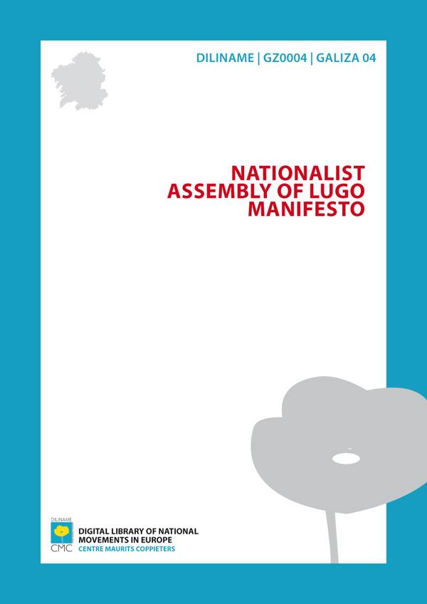 Nacionalist Assembly of Lugo Manifesto (1918)