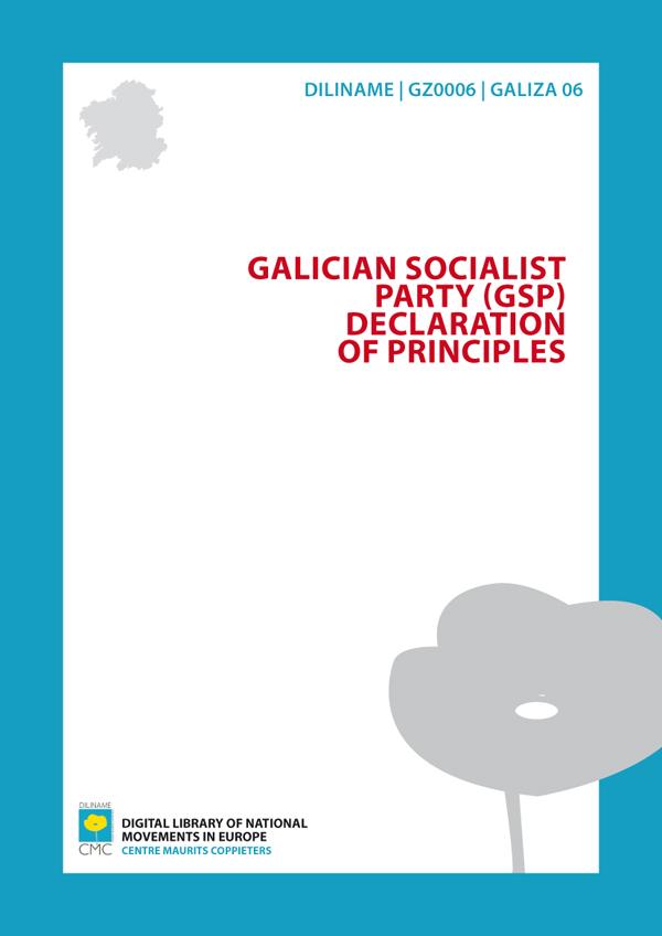 Galician Socialist Party (GSP). Declaration of principles (1974)