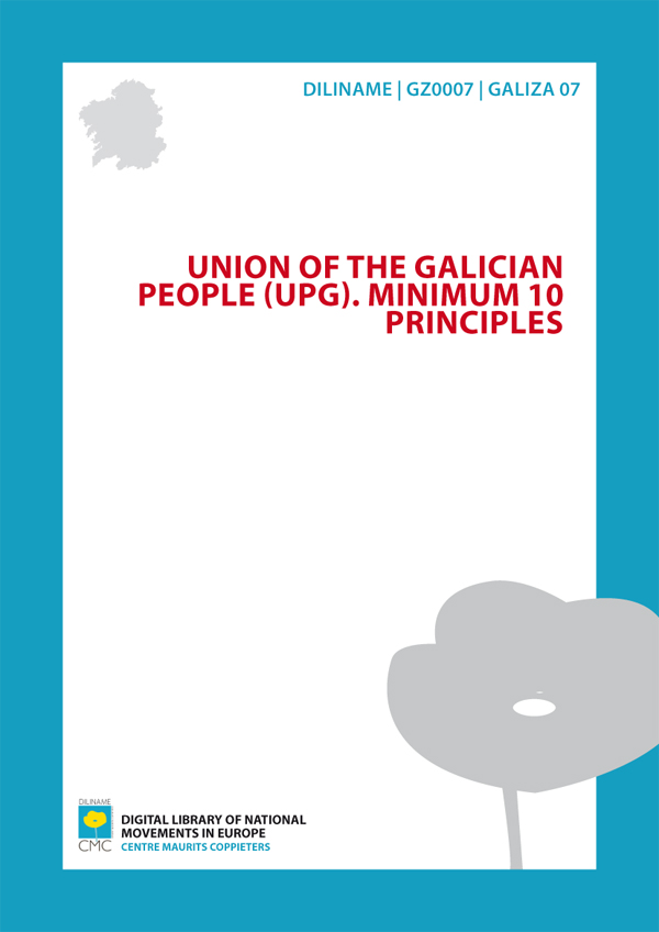 Union of the Galician People (UPG). Minimum 10 principles (1964)
