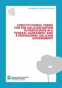 Constitutional Terms for the Galician Nation to participate in a federal agreement