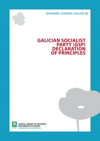 Galician Socialist Party (GSP). Declaration of principles
